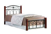 Ліжко коване в спальню Міранда М односпальне (каштан) Domini