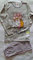 Детская пижама для девочек от 4 до 6 лет.