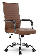 Кресло офисное Sofotel Boston, коричневое