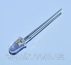 Светодиод мигающий  d5мм красный прозрачный  LED5030