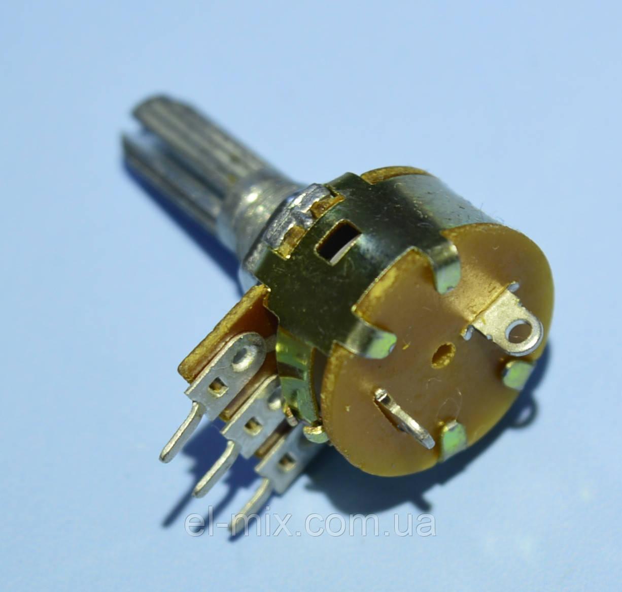 Резистор переменный с выключателем 3pin R16В    B10K-20KQ  Китай