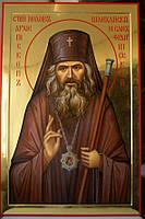 Золочение сусальным золотом икон Святого Иоанна Шанхайского.
