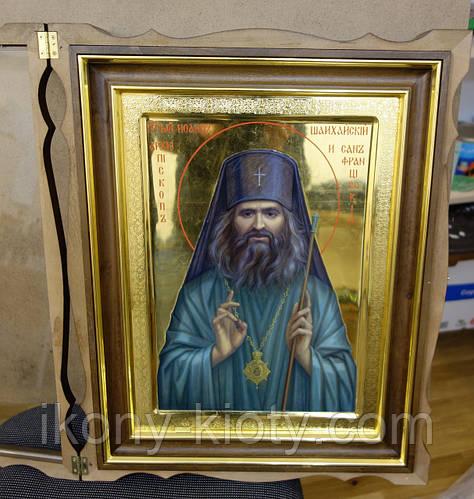 Золочение сусальным золотом икон Святого Иоанна Шанхайского. - фото 4