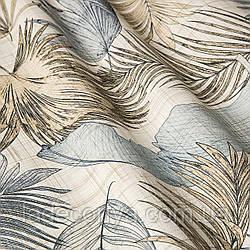 Декоративная ткань с тропическими растениями