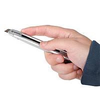 Нож металлический, усиленный 9 мм INTERTOOL HT-0509, фото 1