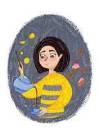 """Открытка """"Волшебное чаепитие"""", фото 1"""