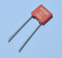 Конденсатор  0.1µF 100V, MKT 5% прямоугольный, WIMA