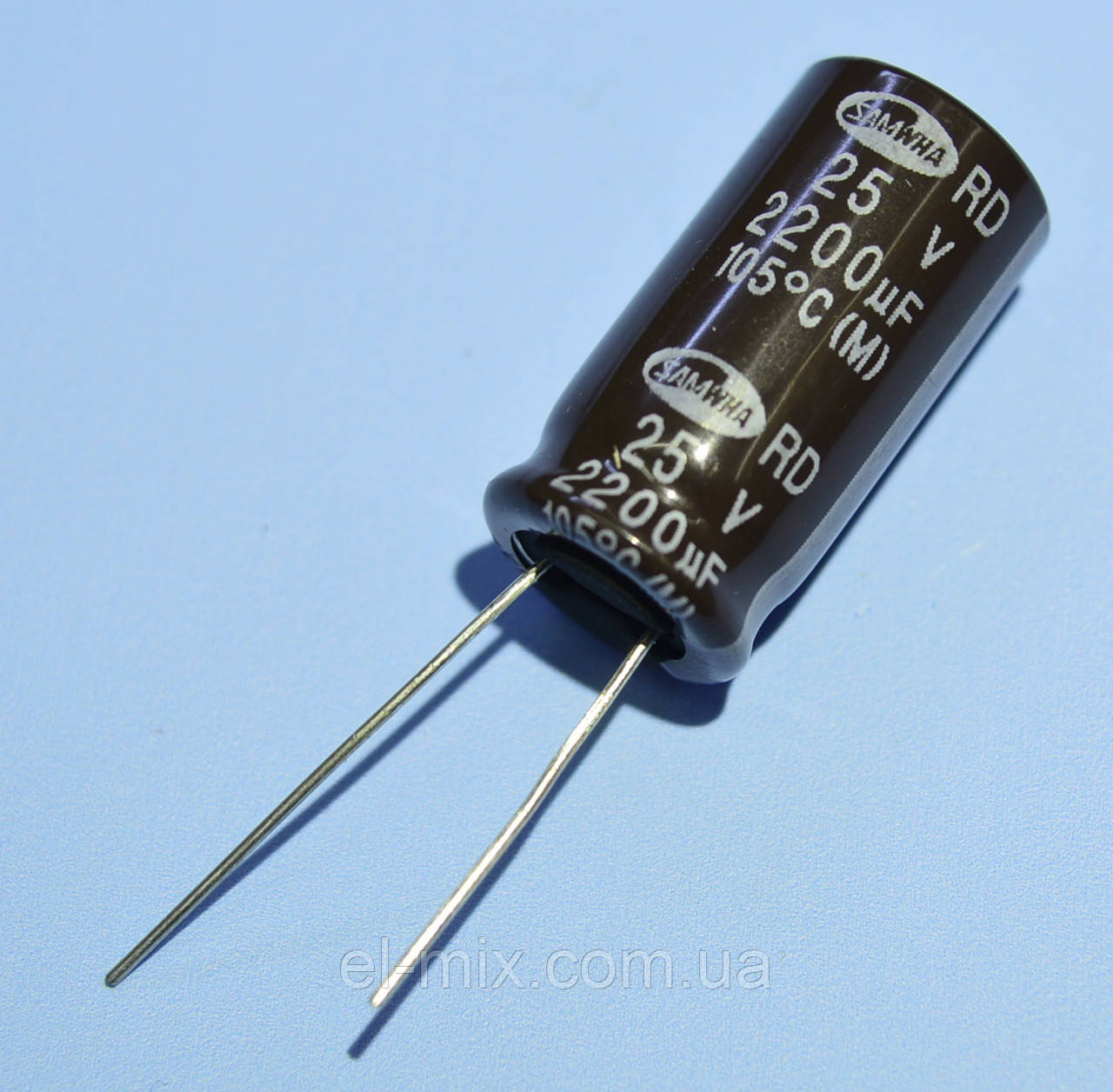 Конденсатор електролітичний 2200мкФ 25В Samwha 105*З RD 12*25