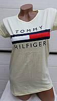 Женская футболка лето Турция Tommy (цвет лимон) оптом