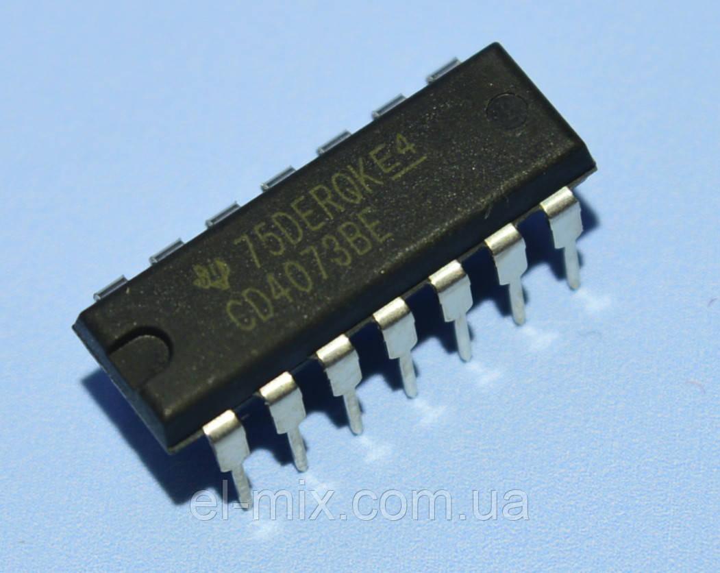 Микросхема 4073 /CD4073BE  dip14   TI
