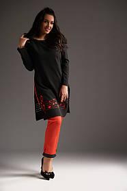 Костюм черный с красным, ноты, стильный 50,52,54 размера дизайнерский
