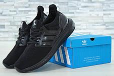 Мужские кроссовки Adidas Ultra Boost черные топ реплика, фото 3