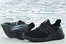 Мужские кроссовки Adidas Ultra Boost черные топ реплика, фото 2