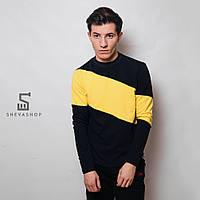 Свитшот MS Turnir, черно-желтый
