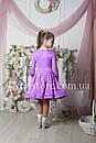 Рейтинговое платье Бейсик для бальных танцев Sevenstore 9101 Сирень, фото 3