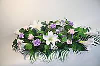 Букет из латексных цветов для украшения свадебного автомобиля
