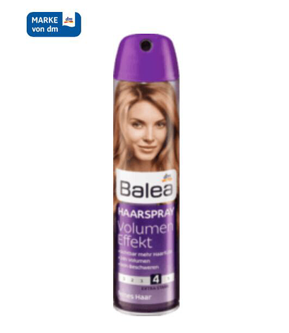 Лак для мягкости и упругости волос Balea Power Volume Haarspray 300мл, фото 2