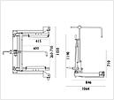 Візок для транспортування вантажних коліс 500 кг, AC Hydraulic, WTA500, фото 3