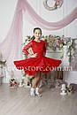 Рейтинговое платье Бейсик для бальных танцев Sevenstore 9101 Красное, фото 2