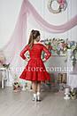 Рейтинговое платье Бейсик для бальных танцев Sevenstore 9101 Красное, фото 3
