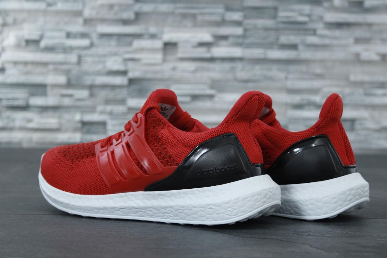 Мужские кроссовки Adidas Ultra Boost красные топ реплика