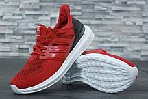 Мужские кроссовки Adidas Ultra Boost красные топ реплика, фото 3