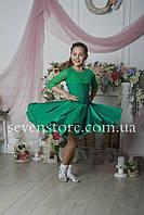 Рейтинговое платье Бейсик для бальных танцев Sevenstore 9109 Зеленый