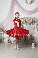 Рейтинговое платье Бейсик для бальных танцев Sevenstore 9117 Красное