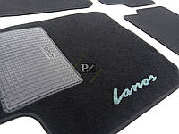 Ворсовые коврики Lanos (черные) - Ковры текстильные Ланос (комплект)