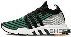 Мужские кроссовки Adidas Equipment Support Mid ADV (Core Black / Core Black / Sub Green)