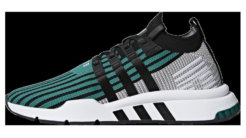 Мужские кроссовки adidas Equipment Support Mid ADV (Адидас Эквипмент) черно-зеленые