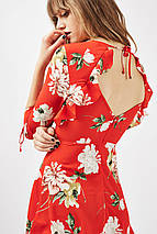 Новое красное платье с воланами и вырезами на спинке Topshop, фото 3