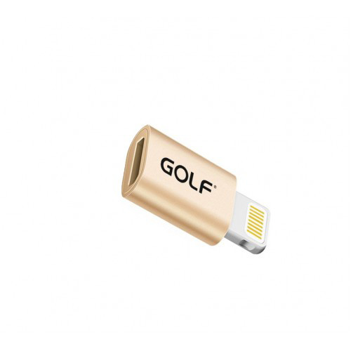 Переходник MicroUSB-Lightning Golf GS-31