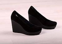 Замшевые женские туфли на платформе, фото 1