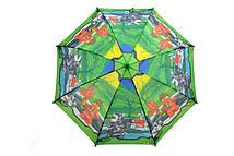 Детский зонт Lego темно-зеленого цвета
