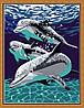 Раскраска по цифрам MENGLEI Дельфины играют (ME092) 30 х 40 см