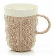 """Оригинальная чашка, купить кружку для чая и кофе Youngpig """"Свитер коричневый"""" (423)"""