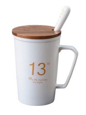 """Оригинальная чашка, купить кружку для чая и кофе Youngpig """"13/14 белая"""" (682)"""