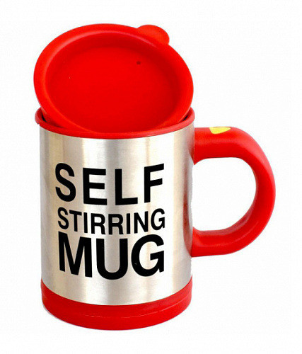 Оригинальная кружка - мешалка – термо, купить кружку, чашку для чая и кофе красная Youngpig  (313)