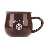Оригинальная чашка, купить кружку для чая и кофе Youngpig «Potty» коричневая (2089)