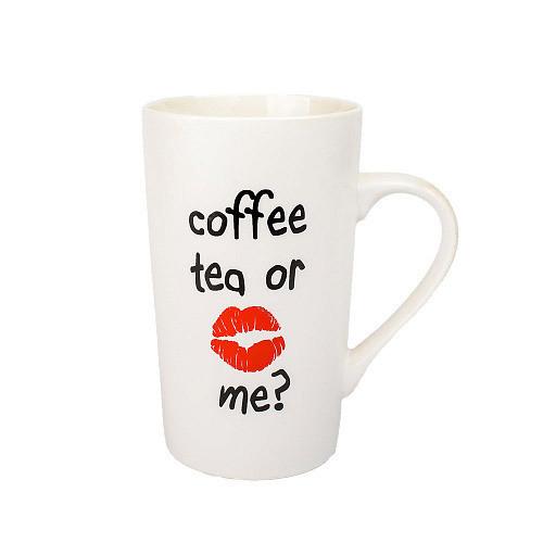 Оригинальная чашка, купить кружку для чая и кофе Youngpig «Coffee tea for me» для нее (2172)