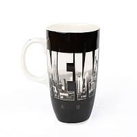 Оригинальная чашка, купить кружку для чая и кофе Youngpig «New York» черная (2168)
