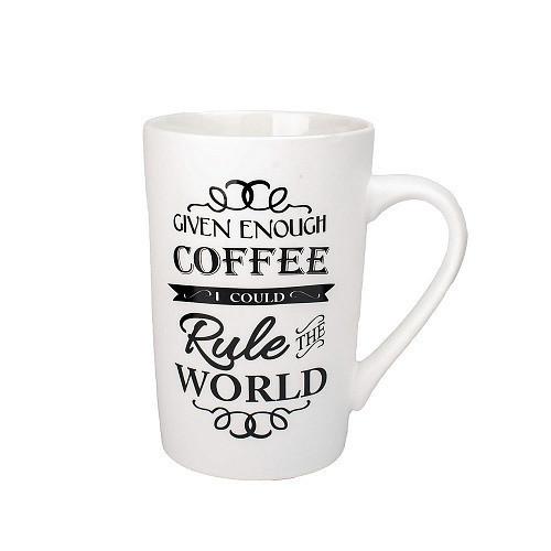 Оригинальная чашка, купить кружку для чая и кофе Youngpig «Coffee rule the world» (2160)