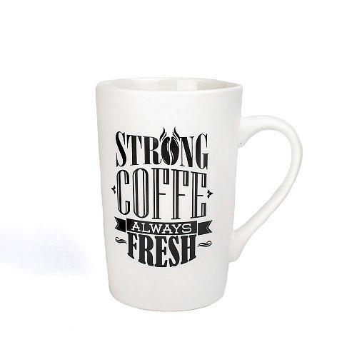 Оригинальная чашка, купить кружку для чая и кофе Youngpig «Strong coffee always fresh» (2163)