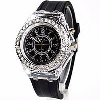 Женские часы Geneva с подсветкой