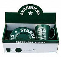 Набор оригинальных чашек, купить кружки для чая, кофе Youngpig «Starbucks» зеленый (297)