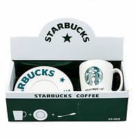 Набор оригинальных чашек, купить кружки для чая, кофе Youngpig «Starbucks» белый (969)