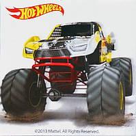 Картина раскраска Hot Wheels желтый бигфут (HW14216K) 20 х 20 см