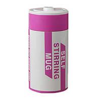 Оригинальная кружка - мешалка – термо, купить кружку, чашку для чая и кофе Youngpig  «Батарейка» розовая (59), фото 1