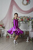 Рейтинговое платье Бейсик для бальных танцев Sevenstore 9120 Сирень